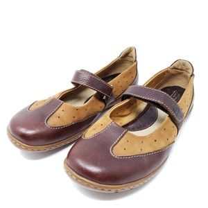 Born Mary Jane Loafers 2 Tone Brown Comfort Shoes